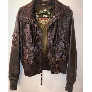 Vintage Brown Leather Jacket